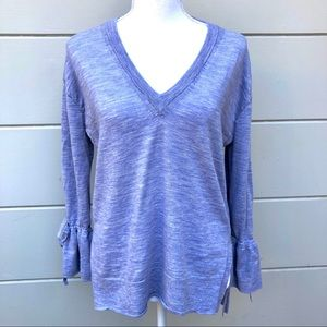 J. Crew periwinkle v-neck lightweight sweater